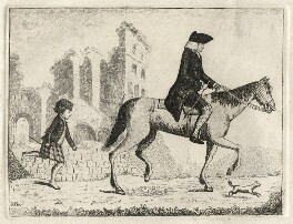 Francis Garden, Lord Gardenstone with his dog Smash and a Highland boy, by John Kay - NPG D16829