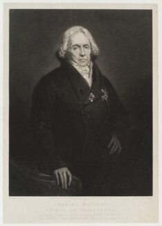 Charles Maurice de Talleyrand-Périgord, Prince de Benevento, by Thomas Hodgetts, published by  Colnaghi & Co, after  Ary Scheffer - NPG D20287