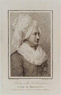 Chevalier d'Eon, by Thomas Chambers (Chambars), published by  Benjamin Beale Evans, after  Richard Cosway - NPG D20293