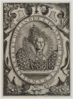Queen Elizabeth I, by Charles David, after  Isaac Oliver - NPG D20336