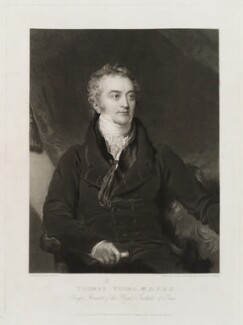 Thomas Young, by Charles Turner, published by  Colnaghi, Son & Co, after  Sir Thomas Lawrence, published 6 April 1830 - NPG D20338 - © National Portrait Gallery, London
