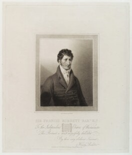 Sir Francis Burdett, 5th Bt, by and published by Henry James Richter - NPG D20342