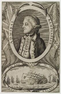 Richard Kempenfelt, by Unknown engraver - NPG D20353