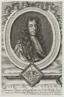 Thomas Thynne, by and published by Robert White, after  Sir Godfrey Kneller, Bt - NPG D20357