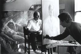 Bobby Charlton; Peter Edwards, by Howard Barlow - NPG x35978