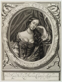 Barbara Palmer (née Villiers), Duchess of Cleveland, after William Faithorne, after  Sir Peter Lely, circa 1660-1680 - NPG D20389 - © National Portrait Gallery, London
