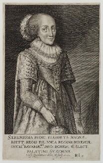 Princess Elizabeth, Queen of Bohemia and Electress Palatine, by Crispyn van den Queborne - NPG D20393