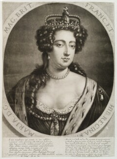 Queen Mary II, by and published by Gerard Valck - NPG D20396
