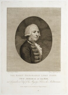 Samuel Hood, 1st Viscount Hood, by Franz Gabriel Fiesinger, after  James Northcote, published 8 October 1793 - NPG D20406 - © National Portrait Gallery, London