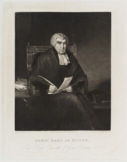 John Scott, 1st Earl of Eldon, by Henry Edward Dawe, published by  Zachariah Sweet, after  Charles Penny - NPG D20424