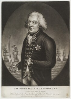 Alexander Hood, 1st Viscount Bridport, published by George Thompson, published by  John Evans - NPG D20435