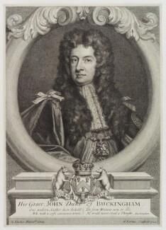 John Sheffield, 1st Duke of Buckingham and Normanby, by George Vertue, after  Sir Godfrey Kneller, Bt - NPG D20436