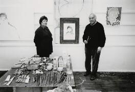 A.S. Byatt; Patrick Heron, by Charles Robert Saumarez Smith, circa 1995 - NPG x87732 - © National Portrait Gallery, London