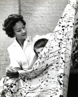 Lucienne Day (née Conradi) with her daughter Paula, by John Gay - NPG x126628