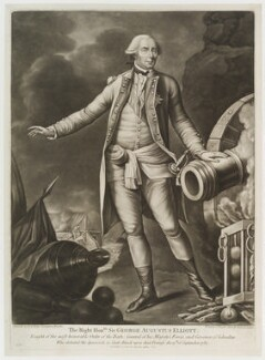 George Augustus Eliott, 1st Baron Heathfield, printed and published by Carington Bowles - NPG D20455