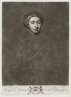 Theophilus Hastings, 9th Earl of Huntingdon, by John Faber Jr, after  Sir Godfrey Kneller, Bt - NPG D20457