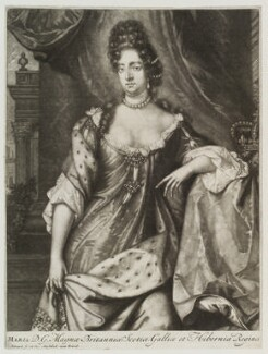 Queen Mary II, by and published by Pieter Schenck - NPG D20466