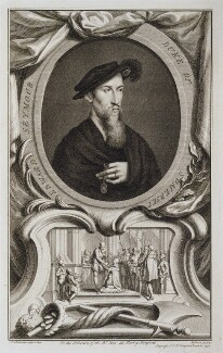 Edward Seymour, 1st Duke of Somerset, by Jacobus Houbraken, published by  John & Paul Knapton, after  Hans Holbein the Younger, published 1738 - NPG D20480 - © National Portrait Gallery, London