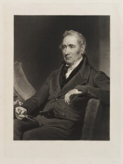 George Stephenson, by Charles Turner, after  Henry Perronet Briggs, published 1838 - NPG D20481 - © National Portrait Gallery, London