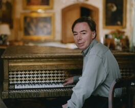 Andrew Lloyd Webber, Baron Lloyd Webber, by John Swannell, 7 October 1995 - NPG x76671 - © John Swannell / Camera Press