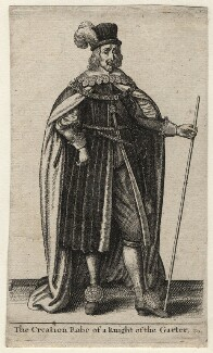 William Cecil, 2nd Earl of Salisbury, by Wenceslaus Hollar - NPG D16817
