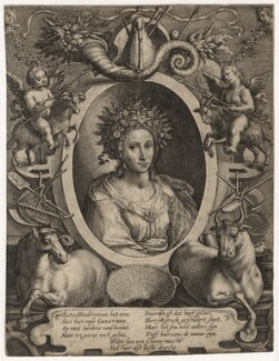 Galatea, by Crispijn de Passe the Younger - NPG D16911