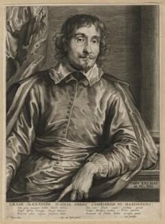 Cesare Alessandro Scaglia, by Paulus Pontius (Paulus Du Pont), after  Sir Anthony van Dyck - NPG D16937