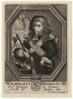 King William III, published by Theodorus Merlen, after  Unknown artist, 1660s? - NPG D16945 - © National Portrait Gallery, London