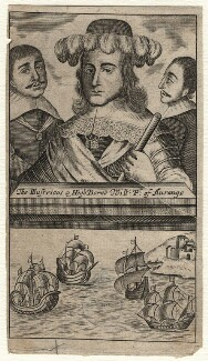 King William III and two unknown men, after Unknown artist - NPG D16946