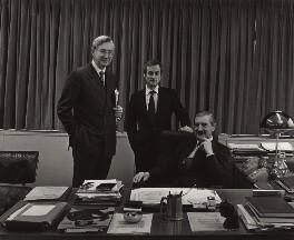 William Rees-Mogg, Baron Rees-Mogg; Sir Harold Evans; Sir (Charles) Denis Hamilton, by Arnold Newman - NPG x22216
