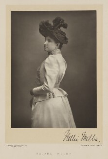 Nellie Melba, by Walery, published by  Sampson Low & Co - NPG Ax38512