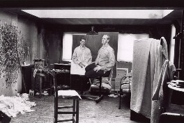 'Lucian Freud's studio with 'Two Brothers from Ulster'', by David Dawson - NPG x126305