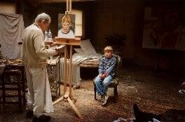 'Albie sitting for his grandfather' (Lucian Freud; Albie Morrissey), by David Dawson - NPG x126316