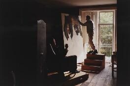 'Freud painting The Brigadier' (Andrew Parker Bowles; Lucian Freud), by David Dawson - NPG x126695