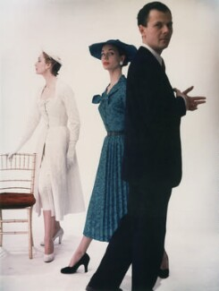 Helen Conner; Fiona (née Campbell-Walter), Baroness Thyssen; John Bryan Cavanagh, by Norman Parkinson - NPG x30053