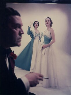 Norman Hartnell; Myrtle Crawford (Lady Acland); Margaret Phillips, by Norman Parkinson - NPG x30054