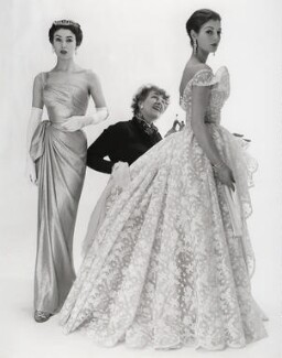Elspeth Champcommunal with Fiona (née Campbell-Walter), Baroness Thyssen and one other fashion model, by Norman Parkinson - NPG x30062