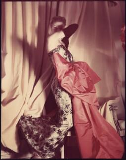 'Paris Drama' (Fashion model wearing a Balenciaga gown), by Norman Parkinson - NPG x30099
