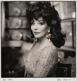 Joan Collins, by Steve Shipman - NPG x47272