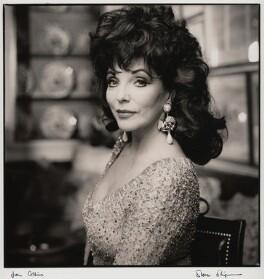 Joan Collins, by Steve Shipman, November 1992 - NPG x47272 - © Steve Shipman / National PortraitGallery, London