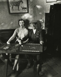 Wenda Parkinson (née Rogerson) and an unknown man, by Norman Parkinson - NPG x30087