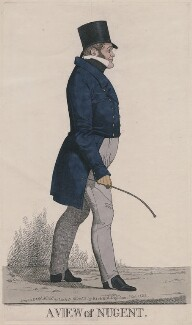 'A view of Nugent' (George Nugent Grenville, Baron Nugent), by and published by Richard Dighton - NPG D13393