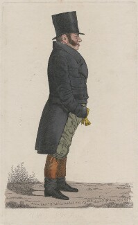 Richard Thornton ('A view on the Royal Exchange'), by and published by Richard Dighton - NPG D13396