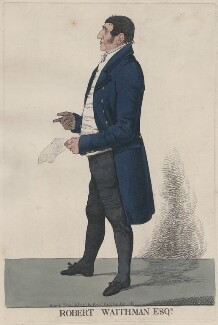 Robert Waithman, by and published by Richard Dighton - NPG D13398