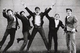 The Dave Clark Five (Rick Huxley; Lenny Davidson; Dave Clark; Denis Payton; Mike Smith), by Norman Parkinson - NPG x30108