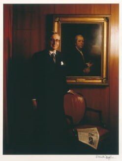 William Rees-Mogg, Baron Rees-Mogg, by Denis Waugh - NPG x32371