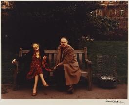 Caryl Brahms (Doris Caroline Abrahams); Ned Sherrin, by Denis Waugh - NPG x32374