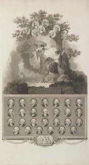 'Commemoration of the victory of June 1st 1794', by Francesco Bartolozzi, and  John George Landseer, and  Thomas Ryder, and  James Stow, published by  Robert Bowyer, after  Robert Smirke - NPG D17016