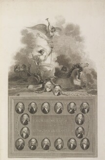 'Commemoration of the 11th October 1797', by George Noble, and by  James Parker, published by  Robert Bowyer, and published by  John Edwards, after  Robert Smirke, after  John Smart, published 1803 - NPG D17018 - © National Portrait Gallery, London