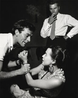 Michael Benthall; Richard Burton as Hamlet; Claire Bloom as Ophelia, by Norman Parkinson - NPG x30028